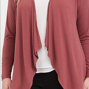 Torrid Soft Rose drapey cardigan